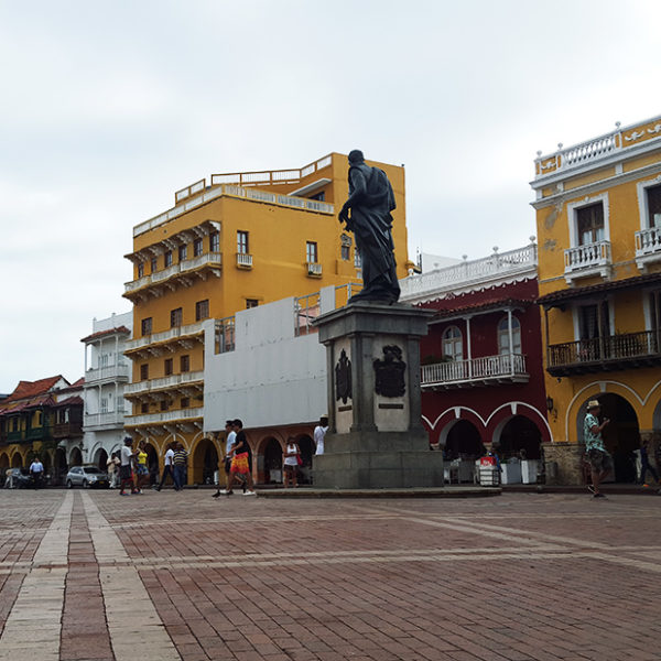 One of several historic Plazas in Cartagena's Walled City